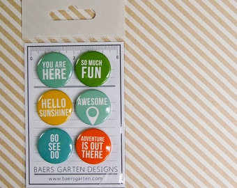 """Badges / Flair Buttons """"Basic Words 3"""" - Project Life"""