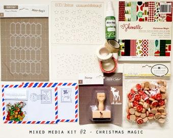 Mixed Media Kit #2 Christmas Magic