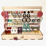 Jewellery Earring Keeper Hanging Storage box unit, Organise, store and display your earrings jewelry