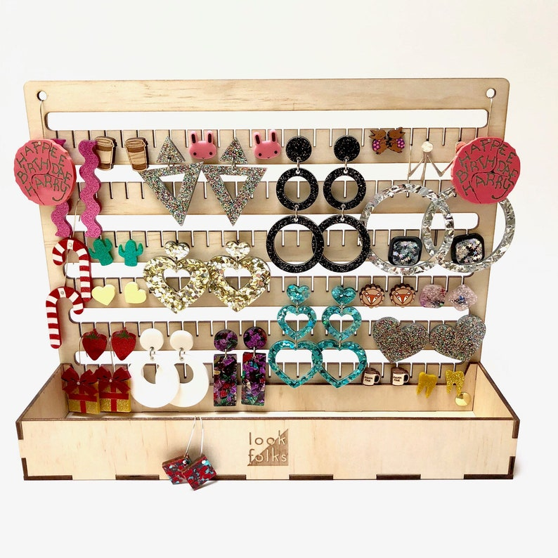 Jewellery Earring Keeper Hanging Storage Unit box Organise image 0