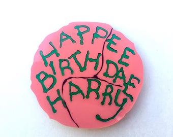 Happee Birthdae Harry Hagrid Cake, laser cut acrylic