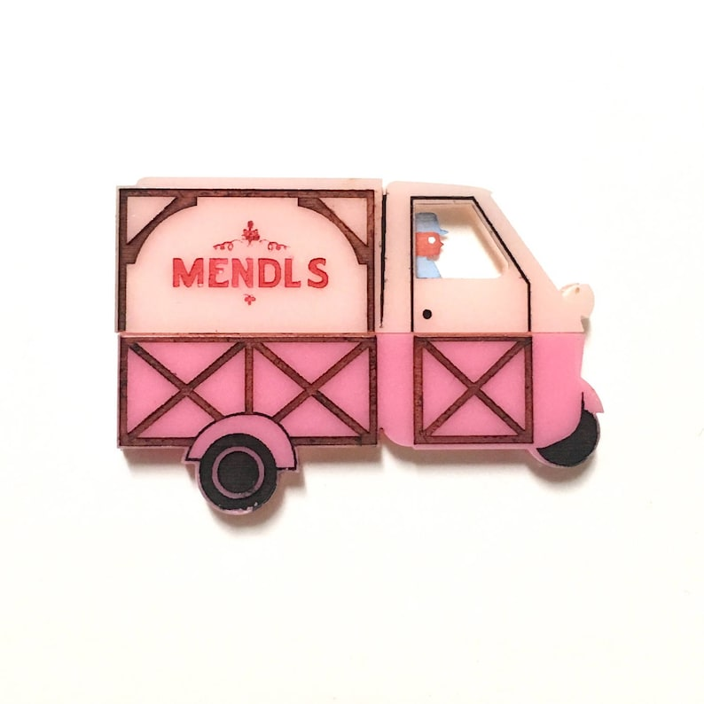 Grand Budapest Hotel Mendl's pastry pink delivery truck image 0