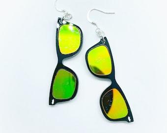 Sunglass Earrings - Dangle sun glasses Earing - Acrylic - Funky Cool Summer Vibes