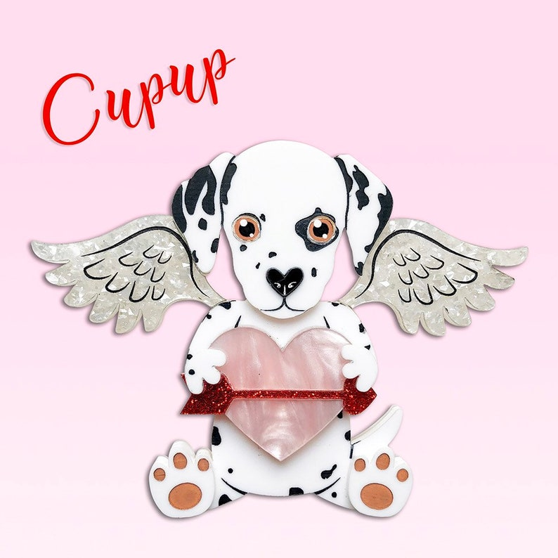 Laser cut pearl Freckles Cu-pup dalmatian puppy image 0