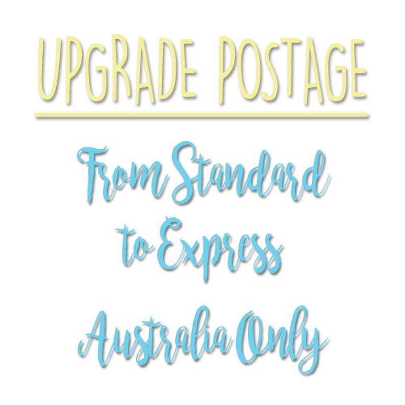Upgrade postage from standard to express post Australia only image 0