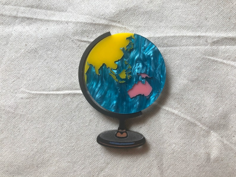 Pre Order  Pink pearl blue and yellow world globe image 0