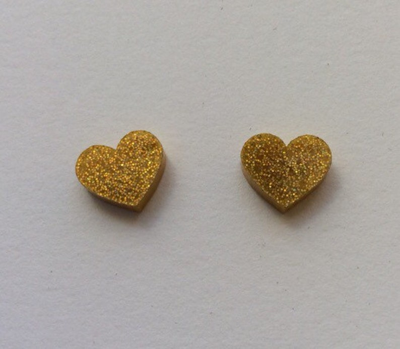 Large gold hologram glitter Acrylic / perspex laser cut image 0