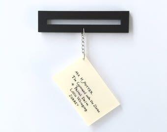 Acceptance Letter brooch, double sided laser cut acrylic fan art