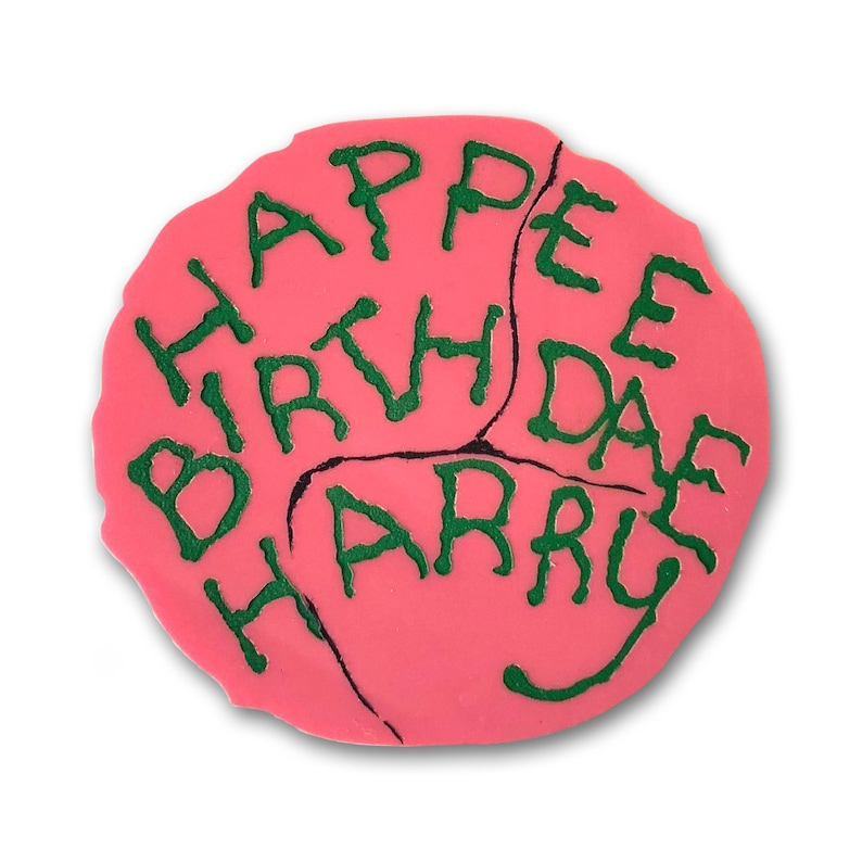 Happee Birthdae Harry Hagrid Cake laser cut acrylic image 0