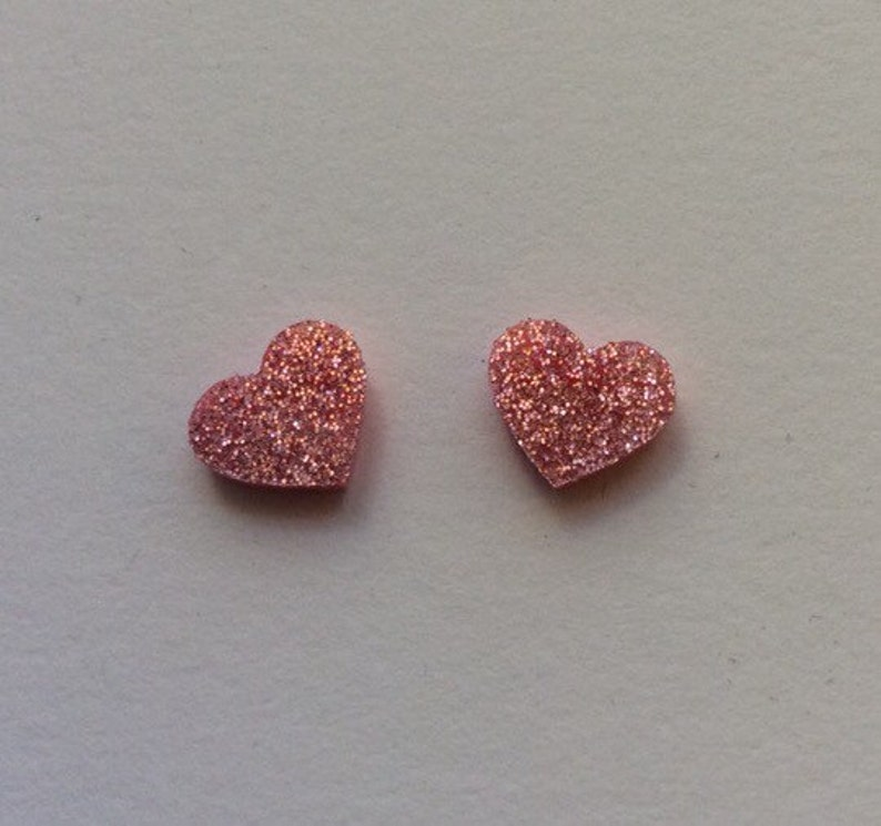 Large light pink rose glitter Acrylic / perspex laser cut image 0