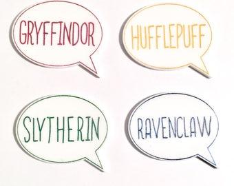 Extra Hogwarts house speech bubble