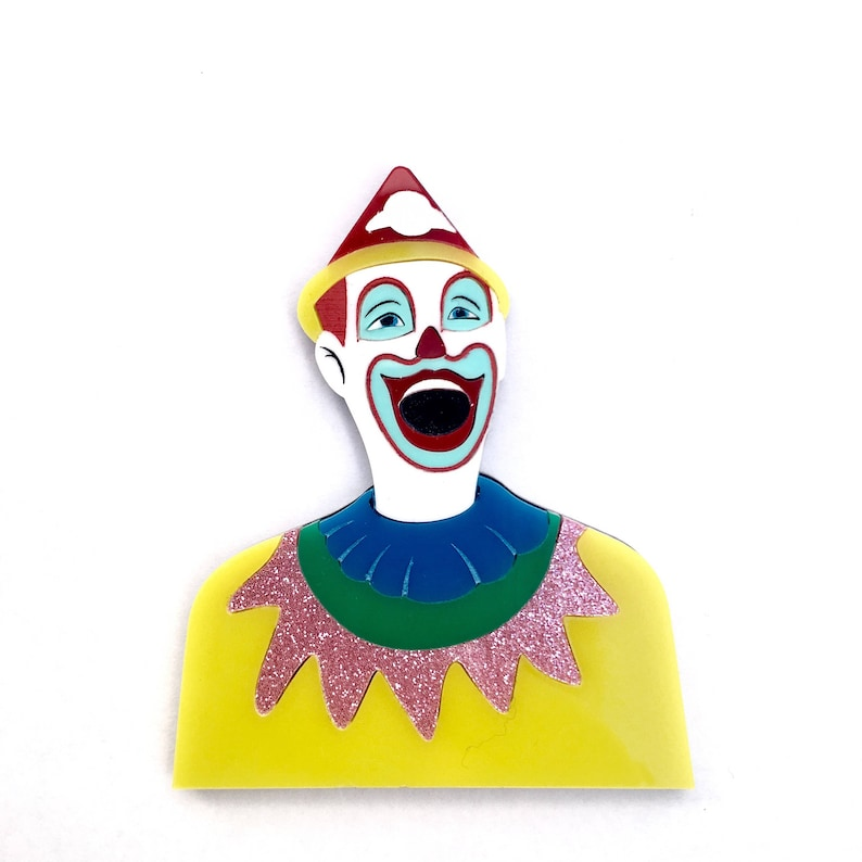 Laughing Clown Ekka carnival game multicolour layered laser image 0