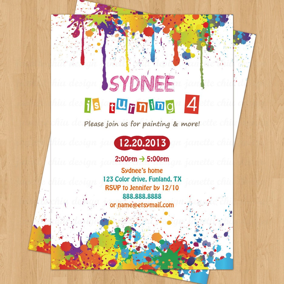Arts and Crafts Birthday Party Invitation Digital Printable | Etsy