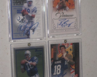Peyton Manning 4 card lot in a screwdown cases