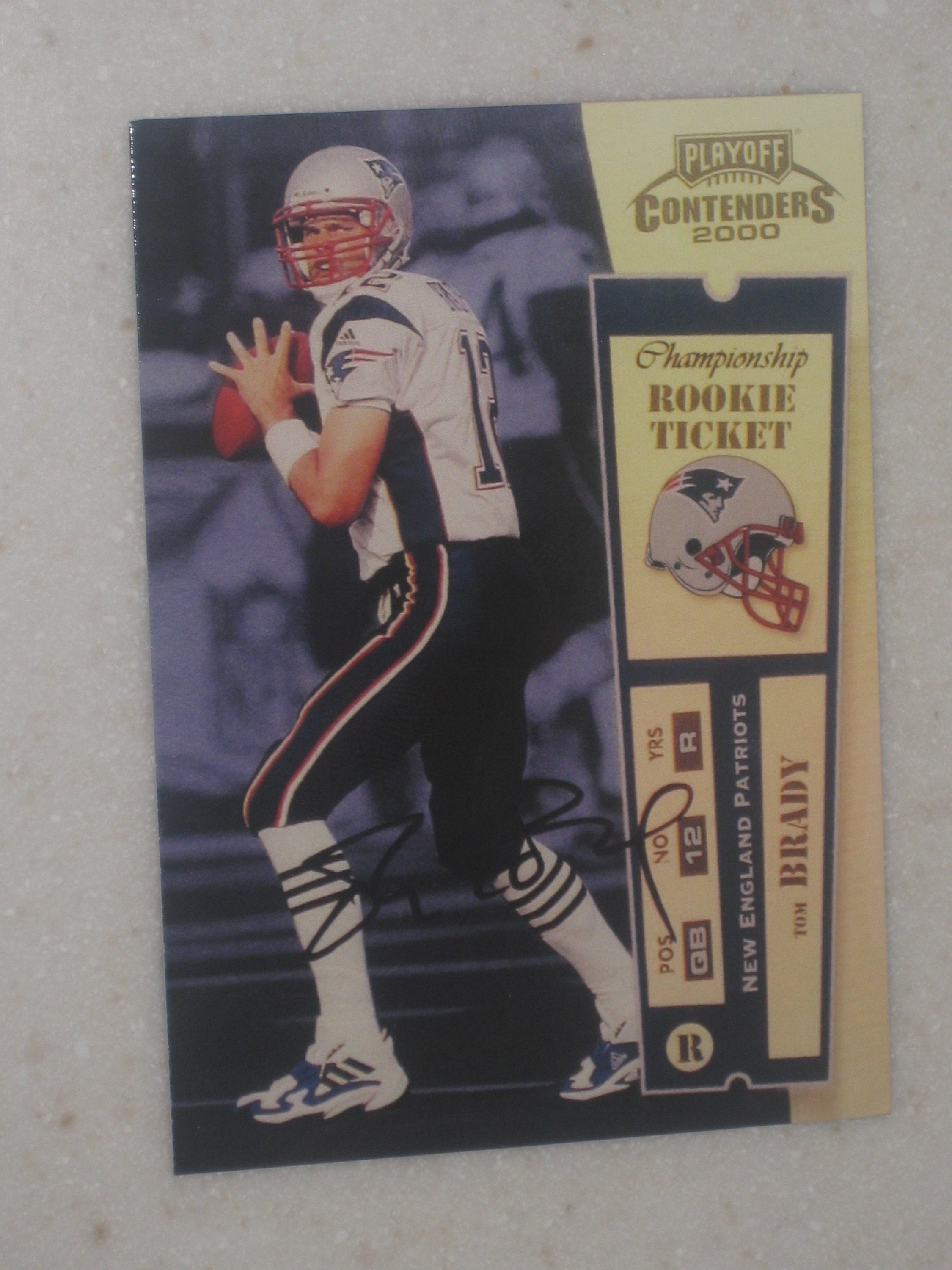 Playoff Contenders Tom Brady Auto 12100 New England Patriots Rc Card
