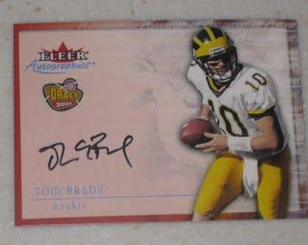 fleer autographics Tom Brady New England Patriots RC card