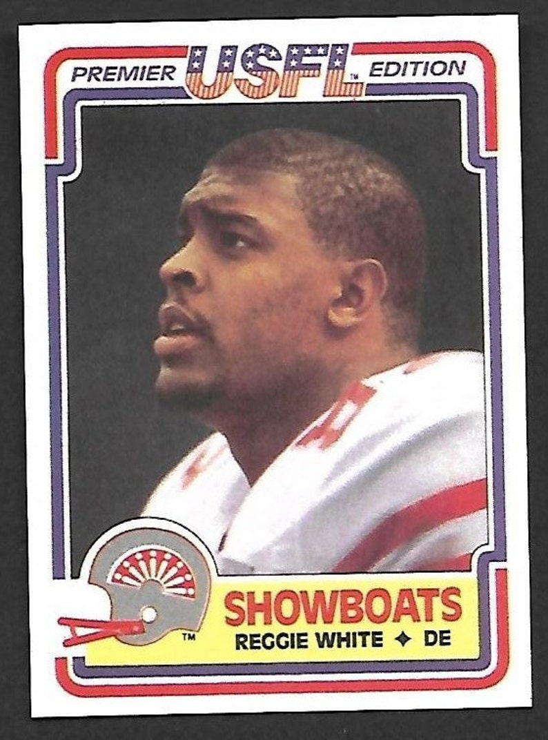 New Just In 1984 Usfl Reggie White Rookie 58