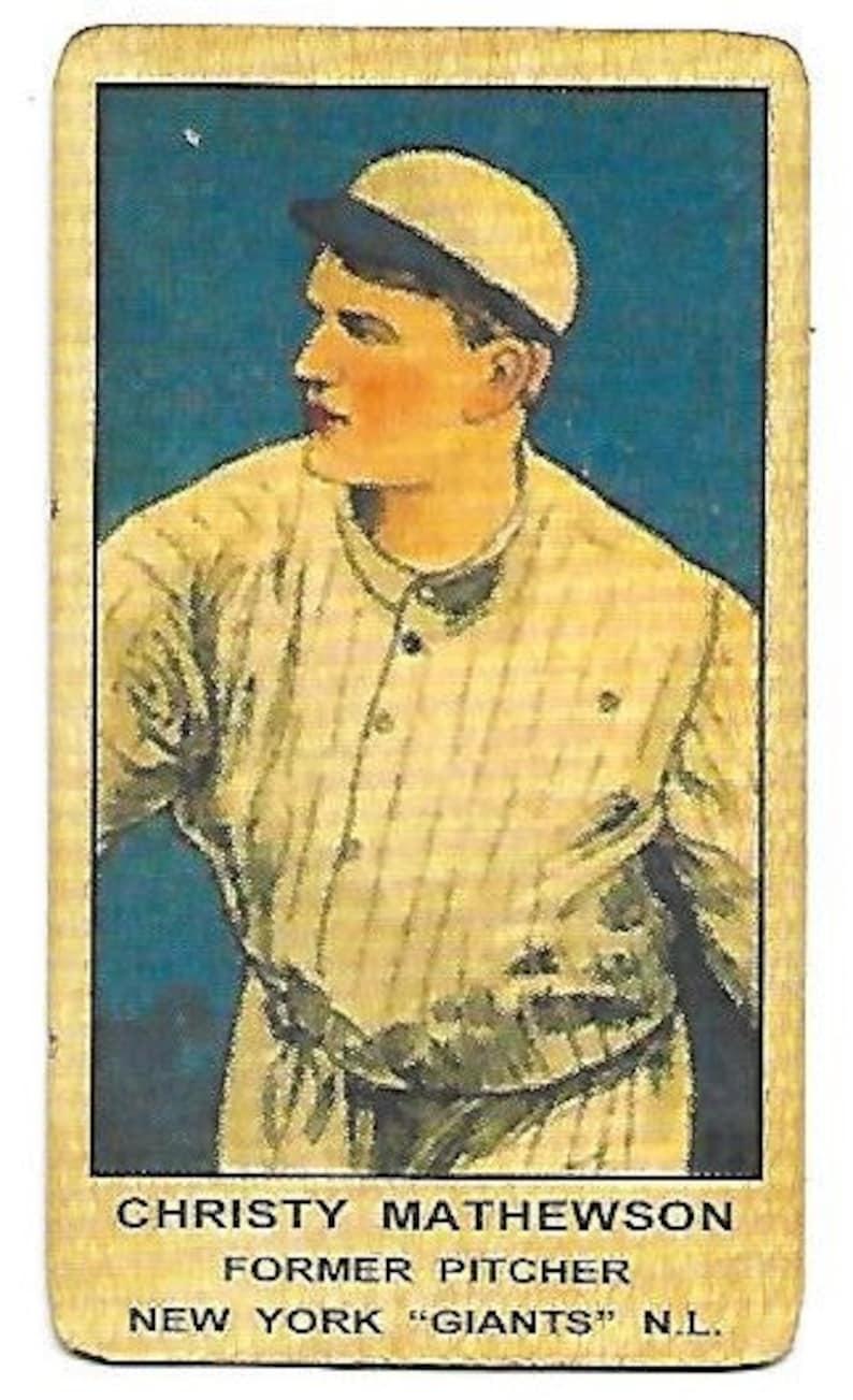 New Just In Christy Mathewson 1920 21 W514 Strip Card