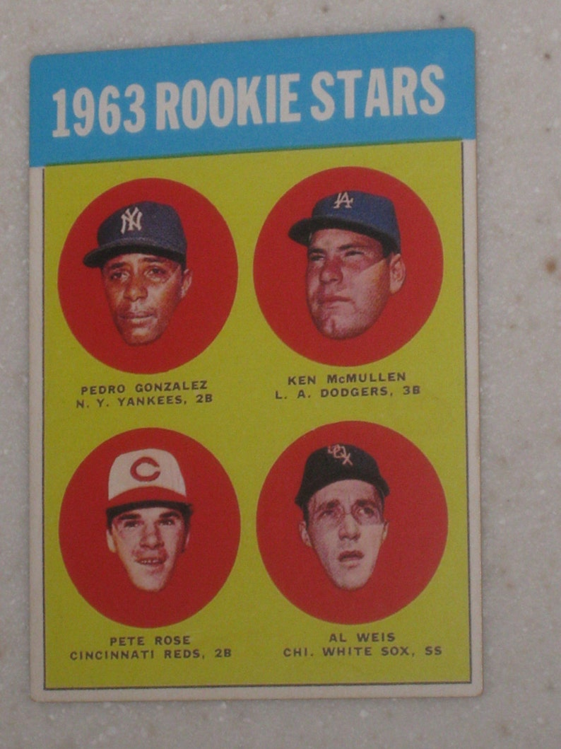 1963 Topps Pete Rose Rookie Looks Truly Authentic