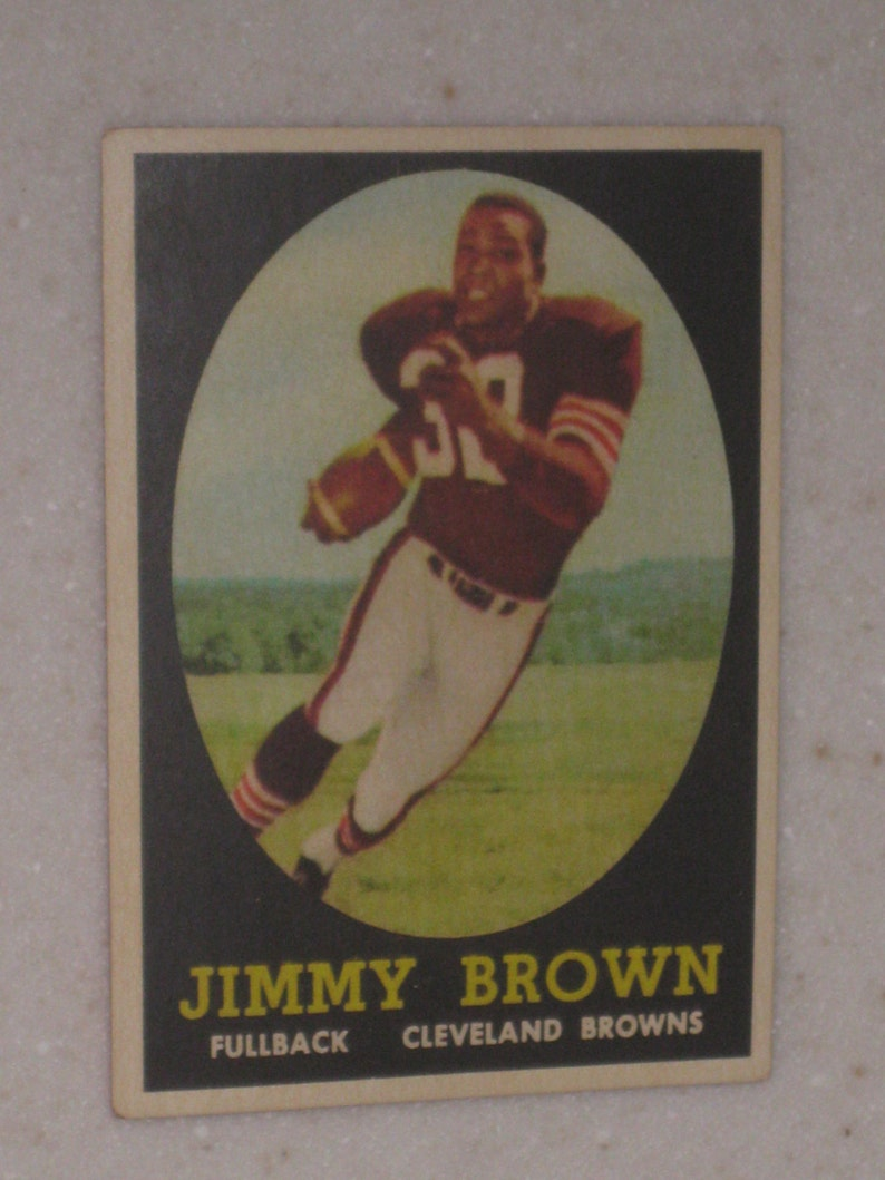 1958 Topps Jim Brown Rookie Card