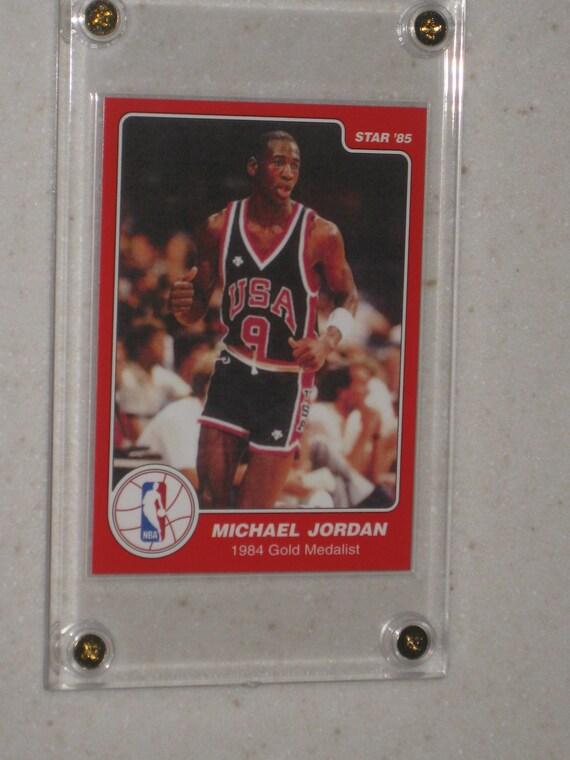 1985 Star Company 1984 Gold Medalist Michael Jordan Rc With