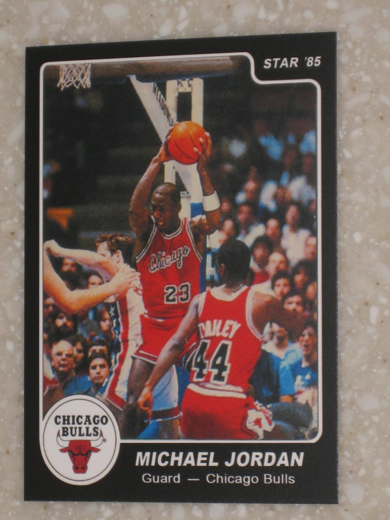 1985 Star Company Michael Jordan Rookie Black Authentic Looking Card