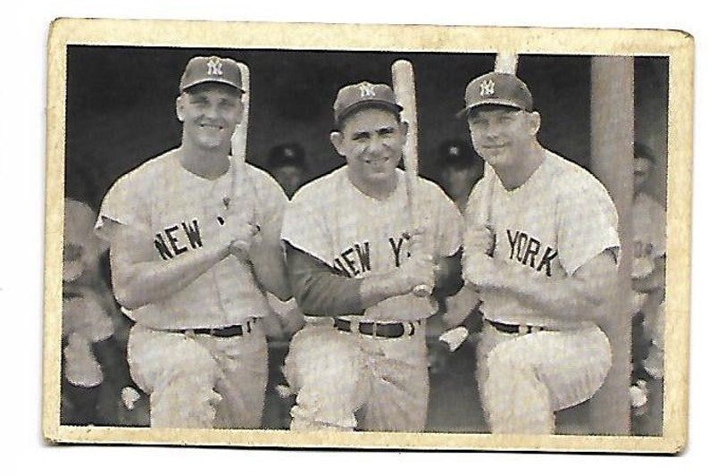 Vintage Roger Maris Yogi Berra Mickey Mantle Baseball Card