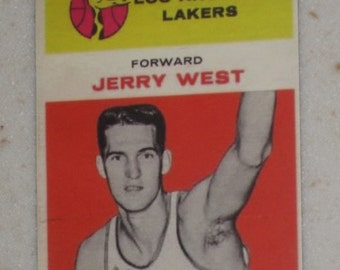 1961-62 fleer jerry west rookie card