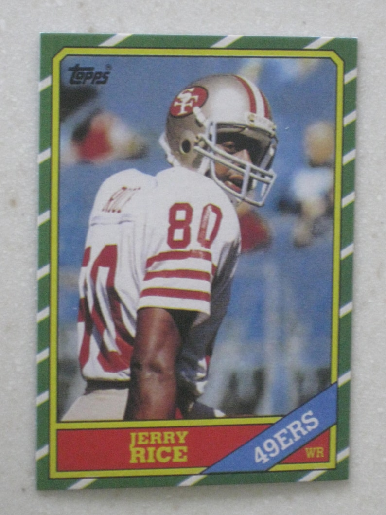 1986 Topps Jerry Rice Rookie Card