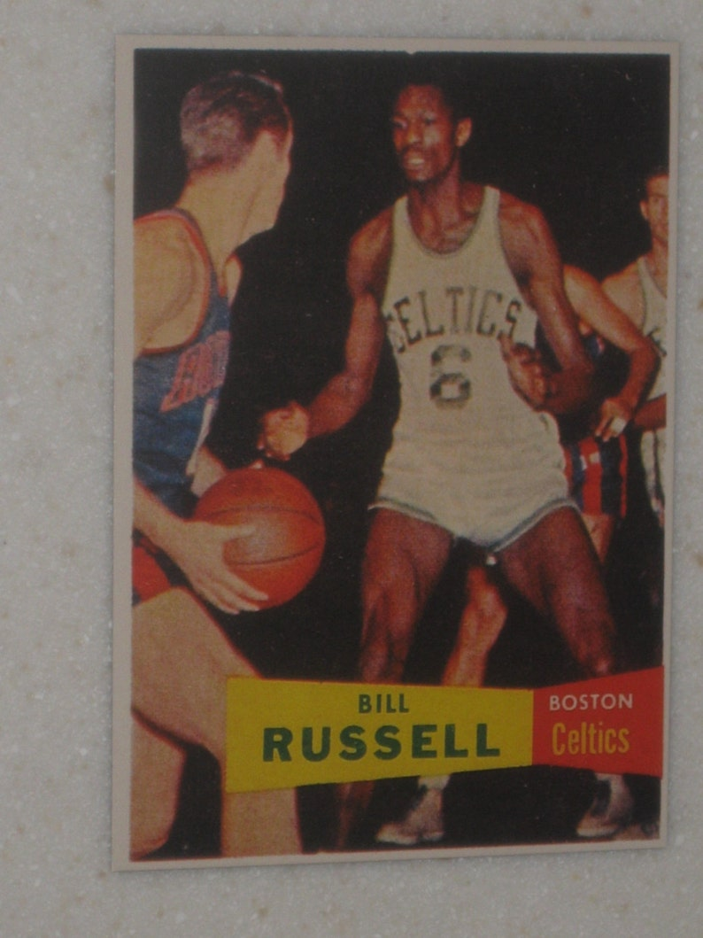 195758 Topps Bill Russell Rookie Card