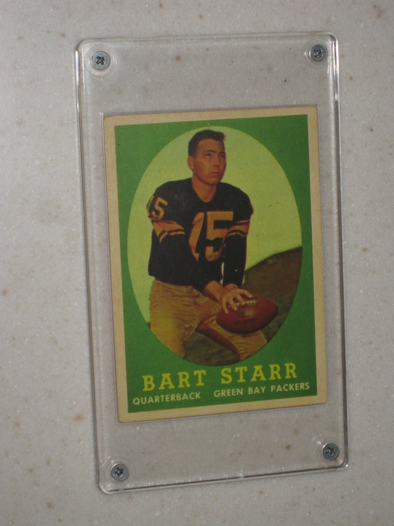 1958 Topps Bart Starr Awesome Vg Card Only 1 Available In A Screwdown Case