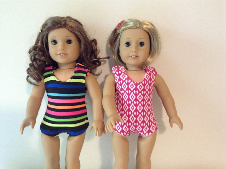 04d6072c7c American Girl or other 18 inch doll swimsuit one piece | Etsy