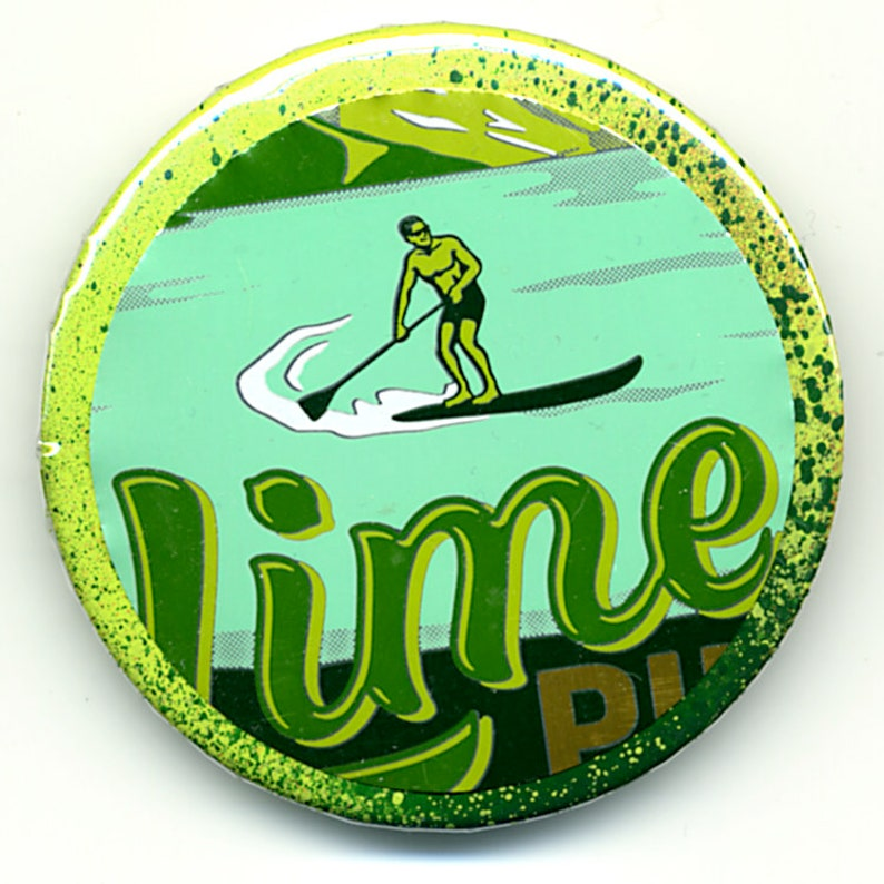 Craft Brew Magnet or Pinback Buttons Featuring Uinta Lime Pilsner