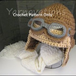 Crochet Baby Aviator Hat Pattern - Child and Adult Sizes too - Crochet Pattern