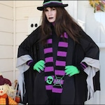 Witch Outfit - CROCHET PATTERN - Hat, Gloves, Scarf, Leg Warmers-Boot Cuffs - Witch Accessories
