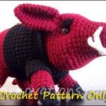 Arkansas Razorbacks Wild Boar Crochet Pattern