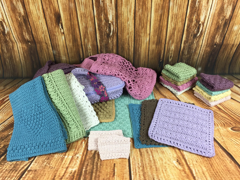 A Dozen Dishcloths And Household Items Set Crochet Pattern Etsy