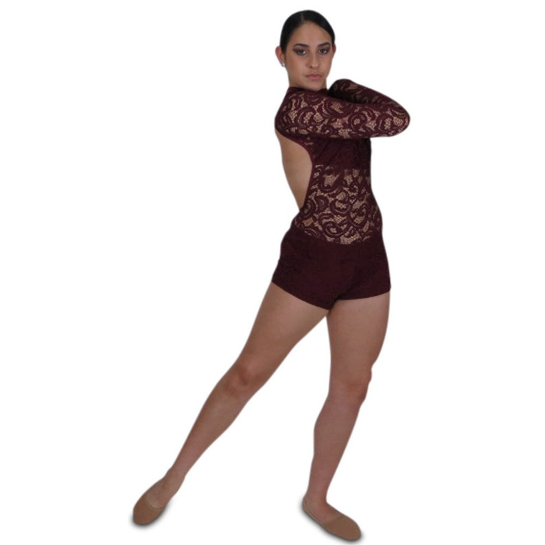 c2c6c31521 Lace biketard choose your color long sleeve leotard with