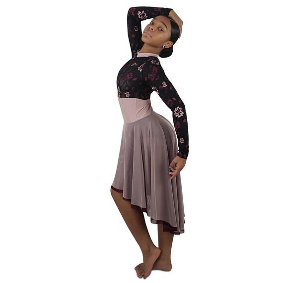 Dark Lyrical Dance Costume Black Dusty Rose Wine Etsy