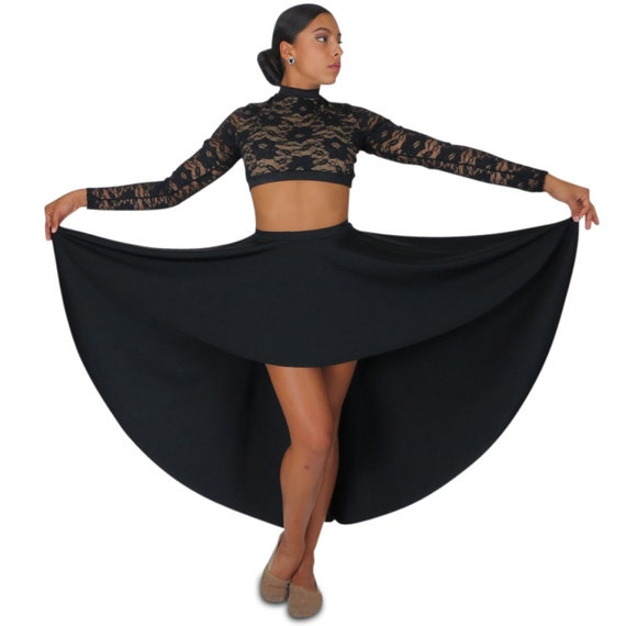 604d64bf9 Long high low dance skirt black   other colors girls teens