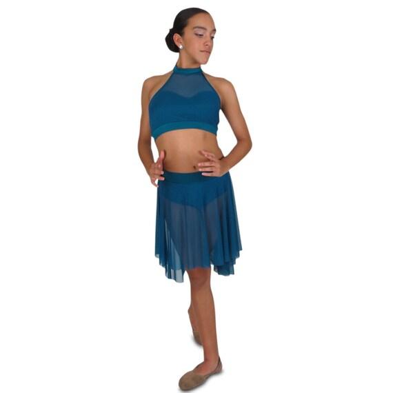 462be0b7c633f Mesh dance halter halter crop top dance team crop tops