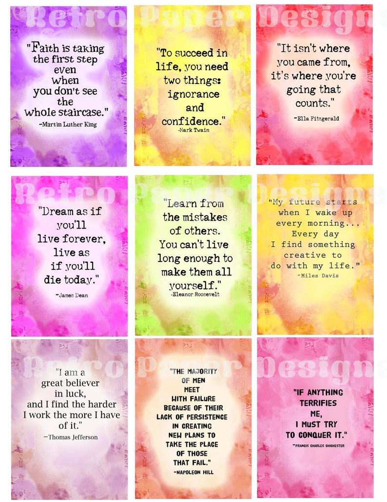 picture about Printable Affirmations named Inspirational confirmation playing cards