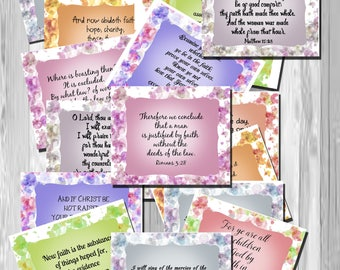 Bible Cards, faith cards, inspirational cards, scripture cards, bible verse, bible verse download, printable cards, instant download