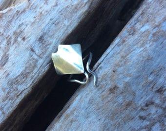 Sterling silver ring, Manta ray ring, Sting ray ring