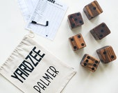 Yardzee - Farkle Lawn Dice Game with Personalized Carrying Bag