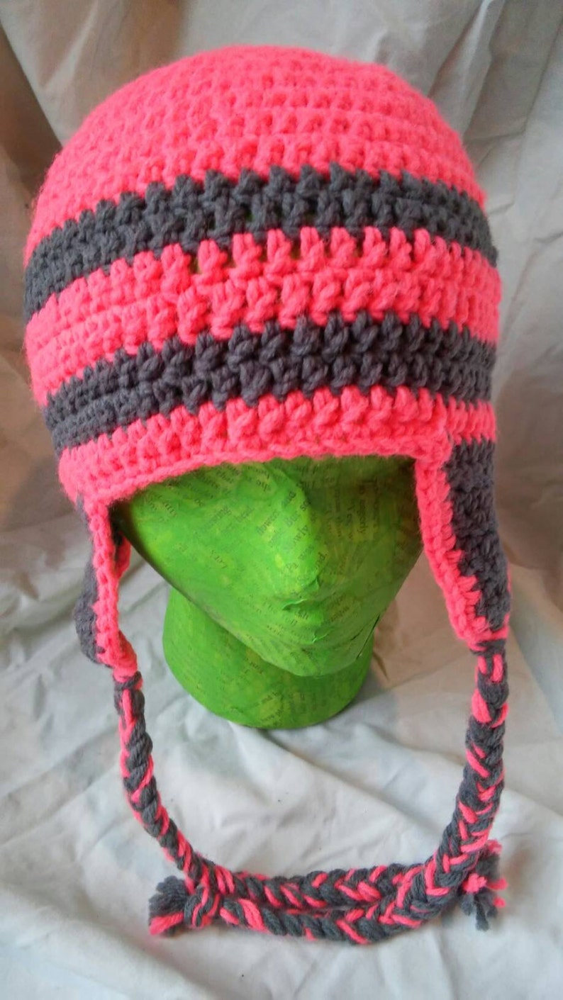 AdultTeen hot pink and gray hat