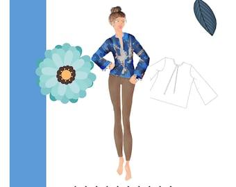 PDF Tunic Pattern -  Womens - Downloadable - Xs-XxL - by Studio TKB
