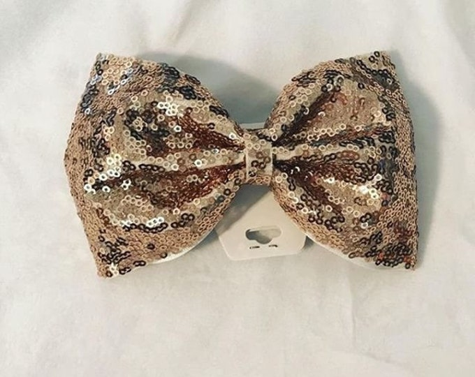 Haley's Gold Sequin Bow