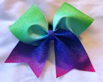 Glitter Rainbow Bow
