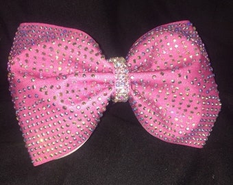 Pretty In Pink Rhinestone Bow